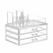 Beautify Acrylic Cosmetic Makeup Organiser - 11 Sections with 3 Drawers