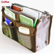 CareforYou® Women Lady Portable Purse Organiser Insert Multi-function Cosmetic Storage Bag in Bag Travel Makeup Organiser Handbag Pouch Insert Bag