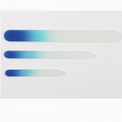 Eggsnow 3PCS Crystal Glass Nail Files Set, Large Pedicure File, Medium & Small Nail File- Cobalt Blue