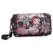 Betty Boop Cafè Pochette Handbag Cosmetic Vanity Bag School Travel