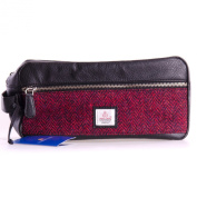 Harris Tweed Wash Bag Red, Cloudberry Range by Maccessori