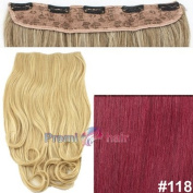 Clip in hair extensions one piece curly weft Various colours