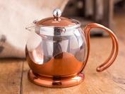 La Cafetiere Origins Copper & Glass Le Teapot With Infuser Basket - 660 Ml