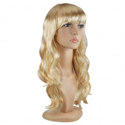 TRIXES Blonde Wig 50cm Long Wavy Hair Costume Party Cosplay Fancy Dress