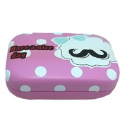 YanFeng Cute Moustache Nice Day Lens Case, Rose Red