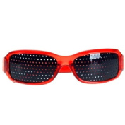 Pinhole Glasses for Eyesight Strengthening - Red - Pinhole Glasses UK - GridGlasses - Pinhole glasses For Eyesight Strengthening