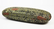Green With Black Squiggles Silk Embroidery, Decorative Glasses Case
