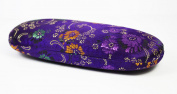 Purple Multi Floral Silk Embroidery, Decorative Glasses Case
