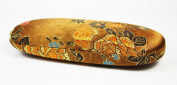 Bronze Floral Silk Embroidery, Decorative Glasses Case
