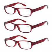 3 PRS of Southern Seas Stylish Brown +1.00 Reading Glasses Mens Womens Flexible Spectacles