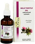 Milk Thistle Oil, Raw, Cosmetic, Cold Pressed, Unrefined, Ol'Vita 50 ml