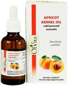 Apricot Kernel Oil, Raw, Cosmetic, Cold Presed, Unrefined, Ol'Vita 50 ml
