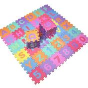 Ardisle 36pcs Soft EVA Foam Baby Children Kids Play Mat Alphabet Number Puzzle Jigsaw Actvity Foam Soft Padded -Letters & Numbers