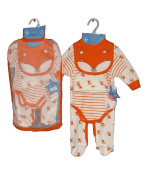 Newborn Baby 5 Piece Layette Clothing Gift Set Fox Themed