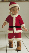 Anik Sunny Baby Boys Christmas Santa Suit with Hat,Baby Party Outfit Santa Clause Costume Christmas Outfit Set