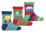 Cottonique Baby Boys Transport Characters Cotton Rich Socks
