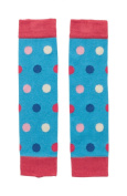 Piccalilly Organic Cotton Multicoloured Baby Girls Spot Leg Warmers