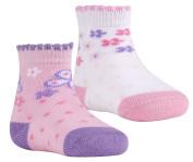 TICK TOCK Baby Girls 2 Pairs Booties Socks Cotton Rich Frilled Trim Newborn Gift