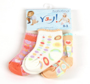 Baby Socks SKC-3 for Girls, Age 0 - 3 Months, Set of 3 Pairs, Colour