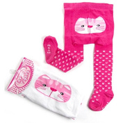 Baby SuperSoft Fun Bum Tights With Cat Embriodery
