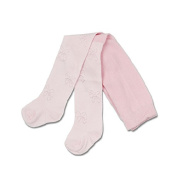 Max and Tilly 6/12m Baby Girls Tights With Bows- Pink