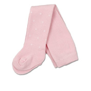 Max and Tilly 6/12m Baby Girls Tights With Fluffy Spots- Pink