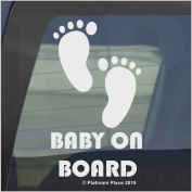 1 x Baby on Board-FEET Design-Internal Window Version-Funny Joke Novelty Car Sticker Decal-Great Christmas Present Gift Gifts-Universal Fit