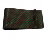Gudeke Green Weave Carbon Fibre Money Clip Glossy Credit Card holder Money Wallet Kevlar