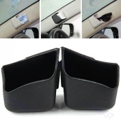 Possbay Car Storage Organiser Auto Glasses Box Mobile Phone Pocket Card Bag Debris 2PCS Black
