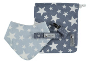 House of Bibs Baby Gift Set - Boy - White Stars on Blue - (3 Pieces