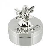 Silverplated Tooth Fairy Keepsake Trinket Box