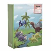 Arpan 15cm x 10cm Small Kids Cute Dinosaurs in Prehistoric Scene Slip In Childrens Photo Album For 100 Photos