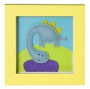 TRÄ PRESENT For Children's Room Dinosaur TR003592 Picture 14 x 14 CM Yellow