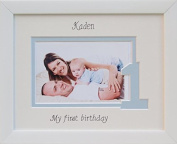 Baby Girl / Boy My First Birthday Photo Frame, 9 x 7 White, Landscape
