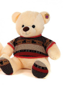 Brand New Winter Christmas Bear with Reindeer Jumper Cream 25cm Soft Toy