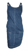 Ladies Ex Mothercare Denim Jean Pinafore Maternity Dress. RRP