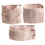 TININNA 3 in 1 Breathable Elastic Postnatal Pregnancy Support Belt Recovery Belly Waist Pelvis Belt Shapewear for Women Maternity S