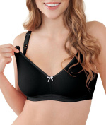 Bravado Sweet Pea Seamless Maternity and Nursing Bra, Black Licorice, 34 B/C