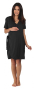 The Bamboo Birthing Wrap - Black - Large (Pre-preg UK 14/16) For Pregnancy, Labour & Breastfeeding