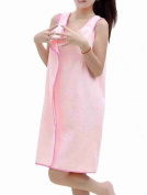Move & Moving(TM) Lady Absorbent Towel Bathrobe Bath Spa Body Wrap Dressing Gown Pink M