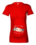 Women's Maternity 'Peek-a-Boo!..is it time to come out yet.' Peeking Baby T-Shirt