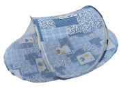 . Instant Pop Up Mosquito Net Crib,Baby Tent,Beach Play Tent,Bed Playpen-Blue