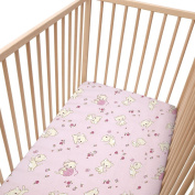 Baby Pink Kittens / Pack of 2 Fitted Sheet - SoulBedroom 100% Cotton Cot Bedding