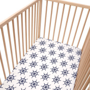 Baby Navy / Pack of 2 Fitted Sheet - SoulBedroom 100% Cotton Cot Bedding