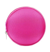 ReachTop Carrying Hard Case Bag for Earphone Headphone iPod MP3,rose red