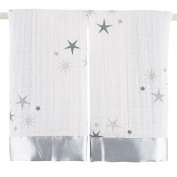 Aden + Anais Satin Trimmed Security Blanket-Twinkle Stars