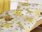 "Cotonea Organic Cotton Duvet Cover ""Afrika"" Yellow, 80x80cm"
