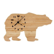Trend Lab Wall Clock, Northwoods Bear Colour