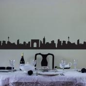 City Skyline Vinyl Wall Art Decal Border for Interior Design