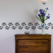 Curved Pattern Vinyl Wall Art Decal Border for Interior Design
